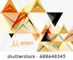 triangular low poly a4 size... | Shutterstock . vector #688648345