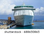 luxury cruise ship docked at... | Shutterstock . vector #688650865