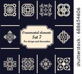 ornamental elements set.... | Shutterstock .eps vector #688654606