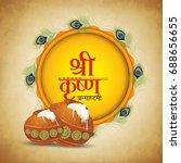 happy janmashtami. indian... | Shutterstock .eps vector #688656655