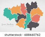greater manchester england map
