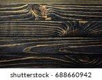 old  weather worn wood board...   Shutterstock . vector #688660942
