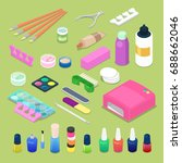 manicure and pedicure isometric ... | Shutterstock .eps vector #688662046