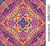 india paisley pattern ... | Shutterstock .eps vector #688670362