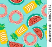 seamless pattern with floats in ...   Shutterstock .eps vector #688671592
