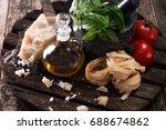 italian and mediterranean food... | Shutterstock . vector #688674862