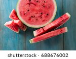 watermelon and watermelon... | Shutterstock . vector #688676002