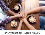 people hand assemble connection ...   Shutterstock . vector #688678192