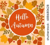 hello autumn vector... | Shutterstock .eps vector #688680628