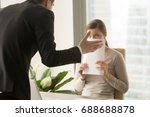 angry irritated boss... | Shutterstock . vector #688688878