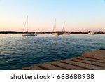 in greece near the coastline... | Shutterstock . vector #688688938