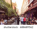view of kadikoy popular streets ... | Shutterstock . vector #688689562