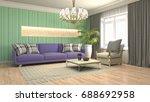 interior living room. 3d... | Shutterstock . vector #688692958