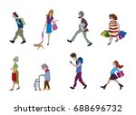 vector illustration of people... | Shutterstock .eps vector #688696732