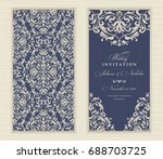 wedding invitation cards ... | Shutterstock .eps vector #688703725