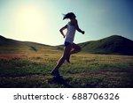 young fitness woman runner... | Shutterstock . vector #688706326