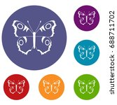 butterfly icons set in flat... | Shutterstock . vector #688711702