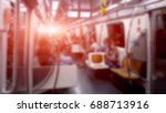 people on subway train at sao... | Shutterstock . vector #688713916
