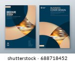 minimal brochure covers.... | Shutterstock .eps vector #688718452