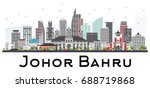 johor bahru malaysia skyline... | Shutterstock .eps vector #688719868