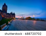 chateau frontenac and dufferin...   Shutterstock . vector #688720702