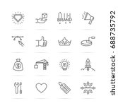 brand building vector line... | Shutterstock .eps vector #688735792