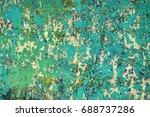 texture of vintage rusty green...   Shutterstock . vector #688737286