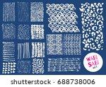 vector hand drawn textures.... | Shutterstock .eps vector #688738006