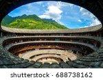 fujian tulou  hakka roundhouse  ... | Shutterstock . vector #688738162