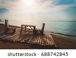 dinner by the beach | Shutterstock . vector #688742845