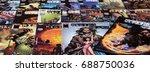 guadalajara  spain   july 19 ... | Shutterstock . vector #688750036