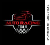 auto racing team  car logo | Shutterstock .eps vector #688764658