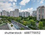 modern chinese residential... | Shutterstock . vector #688770052