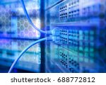 ethernet network cables... | Shutterstock . vector #688772812