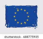 european union flat flag  ... | Shutterstock .eps vector #688775935
