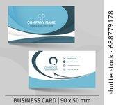 blue creative business card... | Shutterstock .eps vector #688779178