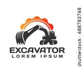 Excavator Vector Logo Template...
