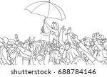 illustration of festival crowd... | Shutterstock .eps vector #688784146