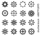 gear icons vector | Shutterstock .eps vector #688791895