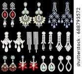 illustration set of jewelry... | Shutterstock . vector #688793572