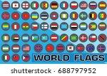 world flag vector | Shutterstock .eps vector #688797952