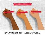 vector collection of hands... | Shutterstock .eps vector #688799362