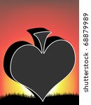 poker element   heart | Shutterstock .eps vector #68879989