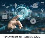 view of an international... | Shutterstock . vector #688801222