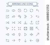 thin line vector arrows icon... | Shutterstock .eps vector #688801552
