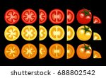 tomatoes. vector pattern | Shutterstock .eps vector #688802542