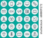 device icons set. collection of ... | Shutterstock .eps vector #688809172