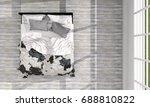 top view of bed room interior.... | Shutterstock . vector #688810822