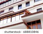 facade building and windows...   Shutterstock . vector #688810846