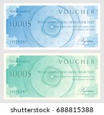 voucher  gift certificate ... | Shutterstock .eps vector #688815388